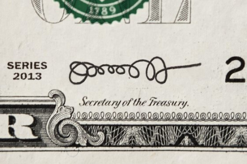 Bank Note signautre