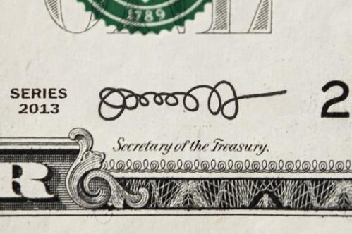Bank Note signautre