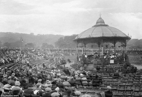 The bandstand in Corporation Park, Blackburn.
